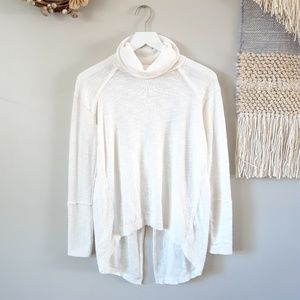 Free People | Split Back Turtleneck - Ivory